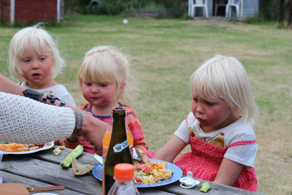 Jakob og Signes børn går alle i Anholt Skole & Børnehave