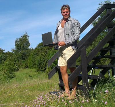 Hjemmearbejdsplads på Anholt og ansat i Mærsk