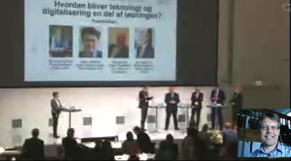 Via skype blev liv og job på Anholt et tema på DI-konference i Hovedstaden